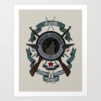 bucky barnes Art Prints featuring Sgt Bucky Barnes (blue) by emptystarships
