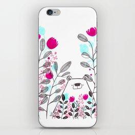 bear in the jungle iPhone Skin