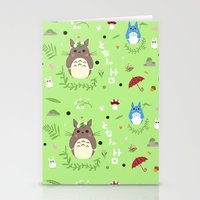 ghibli Stationery Cards featuring Ghibli pattern by Sophie Eves