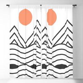 Sunset Minimalist Blackout Curtain
