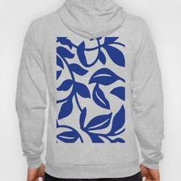PALM LEAF VINE SWIRL BLUE AND WHITE PATTERN Hoody