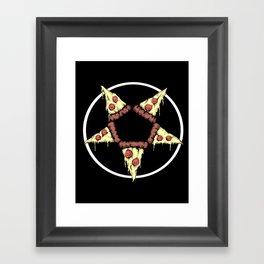 Pizzagram Framed Art Print