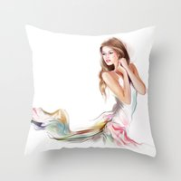 fairy Throw Pillows featuring fairy by tatiana-teni