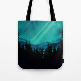 Magic in the Woods - Turquoise Tote Bag