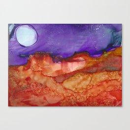 Abstract Desert Mountain Canvas Print