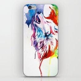 Rainbow Wolf iPhone Skin