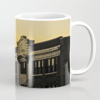 theatre Mugs featuring Palace Theatre Sunset by Biff Rendar