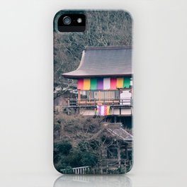 Temple on the mountainside iPhone Case