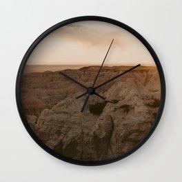Desert Landscape Sunset Wall Clock