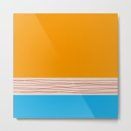 Minimal Retro Pattern Metal Print