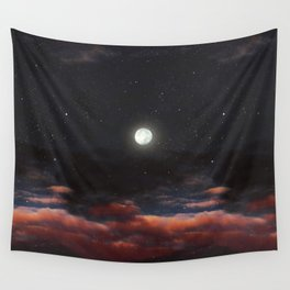Dawn's moon Wall Tapestry