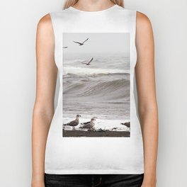 Seagulls and the Surf Biker Tank
