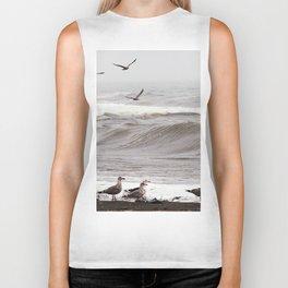Seagulls and the Surf Biker Tank