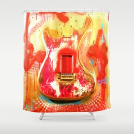 """""""To the Old Gods"""" American contemporary Guitar  painting, prints , music , electric , wall art,decor Shower Curtain"""