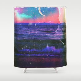 One with the sea and stars Shower Curtain