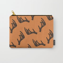 Orange Antler Pattern Carry-All Pouch