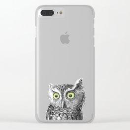 Owl portrait Clear iPhone Case