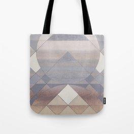 Pyramid Sun Fog Tote Bag