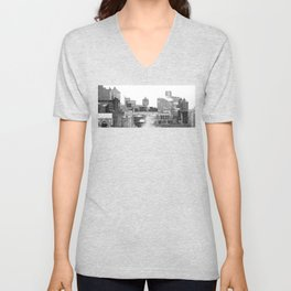 Water towers of the New York City. Unisex V-Neck