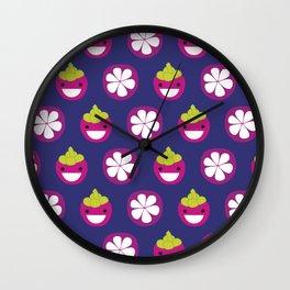 Dotty Mangosteen II - Singapore Tropical Fruits Series Wall Clock