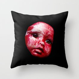 Blood Doll Face I Throw Pillow
