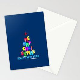 Merry Christmas Happy New Year Stationery Cards