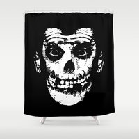 misfits Shower Curtains featuring FIEND CUATES by UNDEAD MISTER / MRCLV