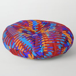 warped field of colored bars Floor Pillow