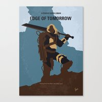 No790 My Edge of Tomorrow minimal movie poster Canvas Print