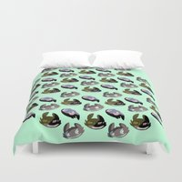 toothless Duvet Covers featuring toothless, httyd by Lizzie H