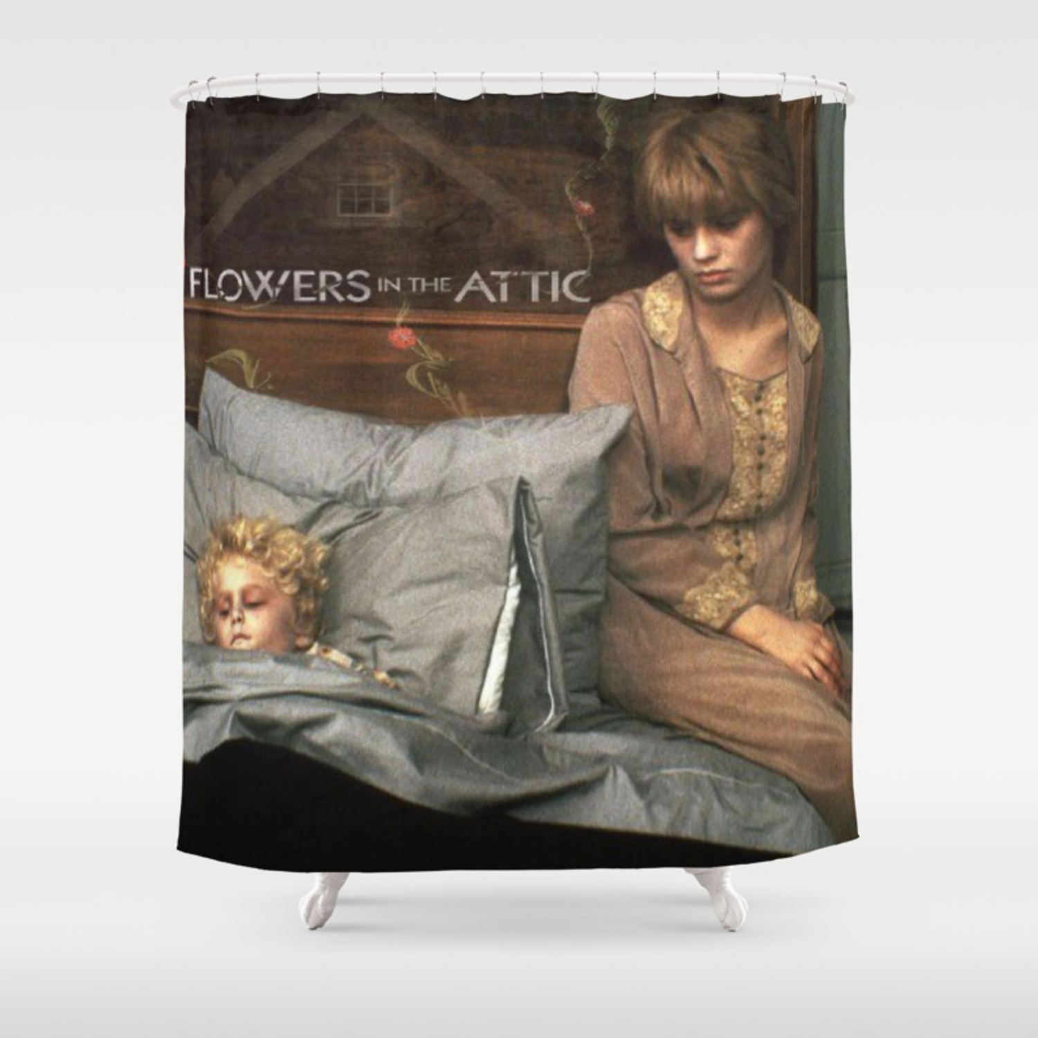 Attic Of Flowers Shower Curtain