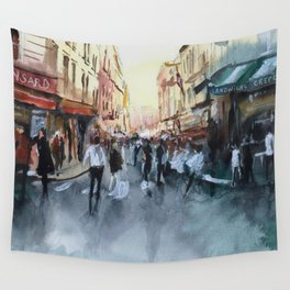 PARIS Street - Painting Wall Tapestry