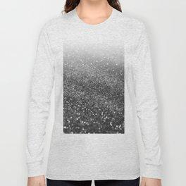Silver Gray Black Glitter #2 (Faux Glitter - Photography) #shiny #decor #art #society6 Long Sleeve T-shirt