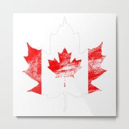 Canada Maple Leaf Metal Print