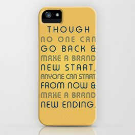 Brand New Ending iPhone Case