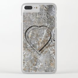 Stone Heart Clear iPhone Case
