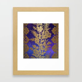 Golde Lace in the Night Sky Framed Art Print