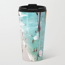 Flamingos on the Beach #society6 #decor #buyart Travel Mug