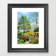 Spring Garden Setting Framed Art Print
