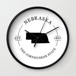 Nebraska - The Cornhusker State Wall Clock