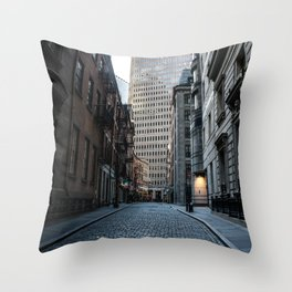 Financial District NYC Throw Pillow
