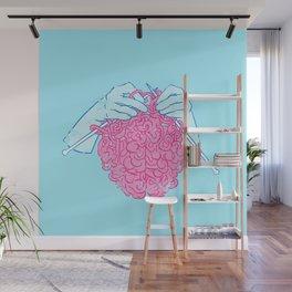 Knitting a brain Wall Mural