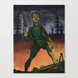 Martian Attacks - Malicious alien digital painting Canvas Print