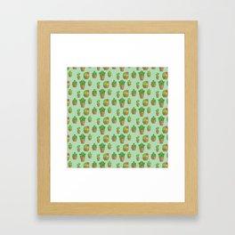 Funky Cactus Framed Art Print