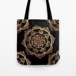 Gold Foil Mandala Tote Bag