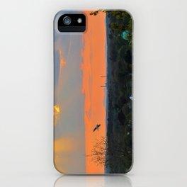God Rays Sunset (1) iPhone Case