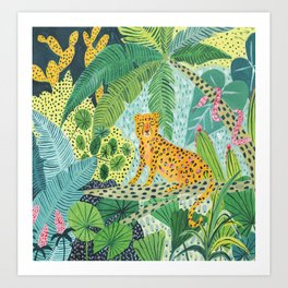 Jungle Leopard Art Print