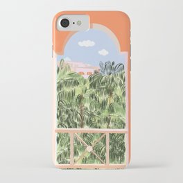 Summer Travel #illustration #tropical iPhone Case
