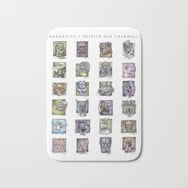 Gargoyle Compilation Print Bath Mat