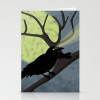 crow Stationery Cards featuring Crow by Nir P